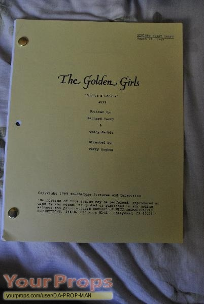 The Golden Girls original movie prop
