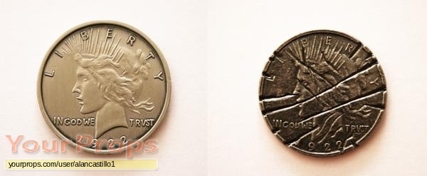 The coin of two-Face / Harvey Dent (Aaron Eckhart) in The Dark