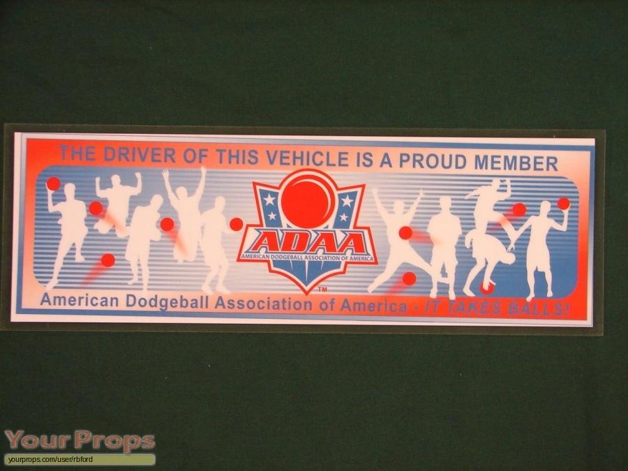 Dodgeball  A True Underdog Story original movie prop