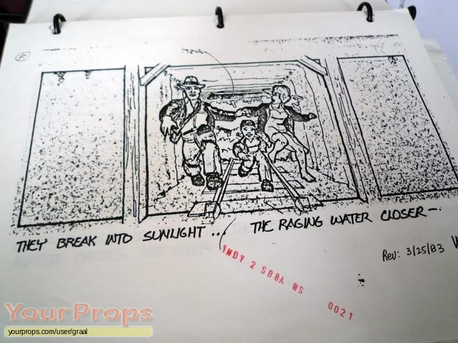 Indiana Jones And The Temple Of Doom original production artwork