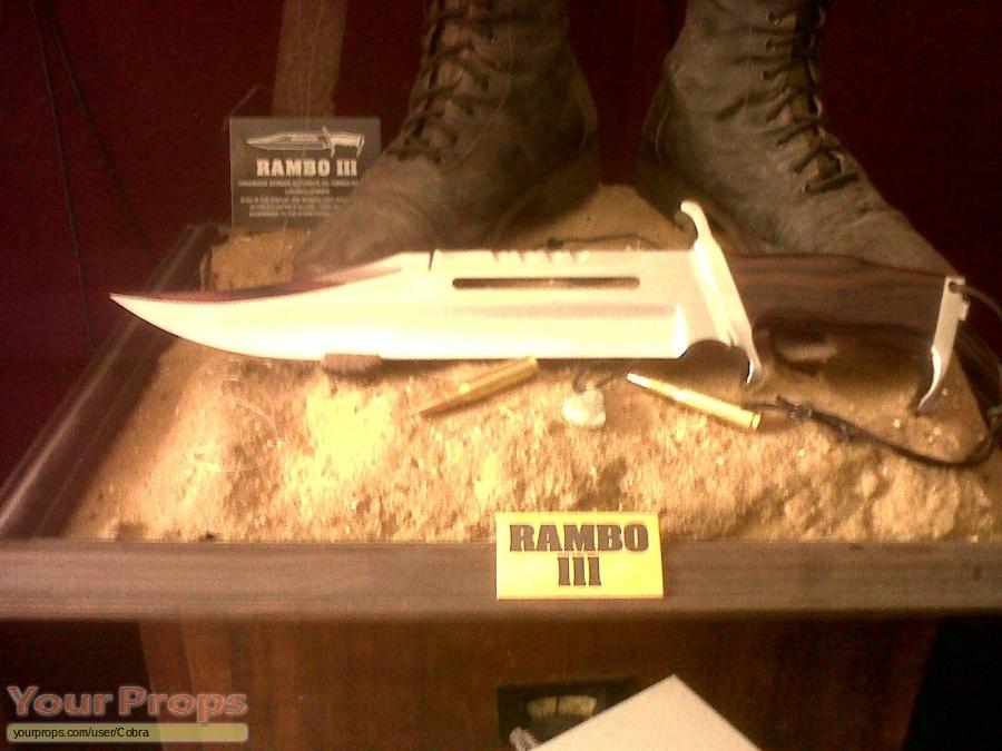 Rambo III original movie prop