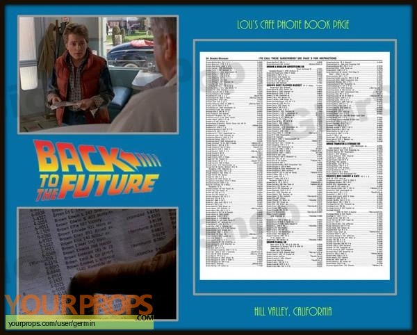 Back To The Future replica movie prop