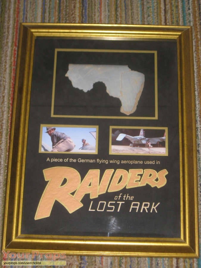 Indiana Jones And The Raiders Of The Lost Ark original set dressing   pieces