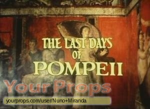 The Last Days Of Pompeii original production artwork