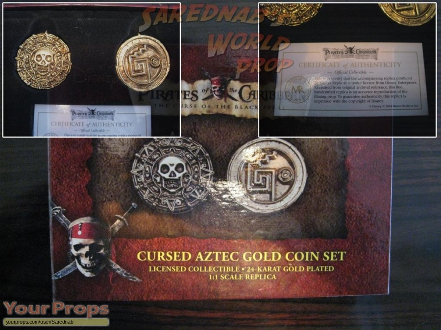 Pirates of the Caribbean  The Curse of The Black Pearl Master Replicas movie prop