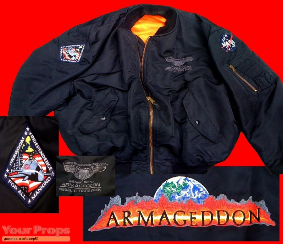 Armageddon original film-crew items