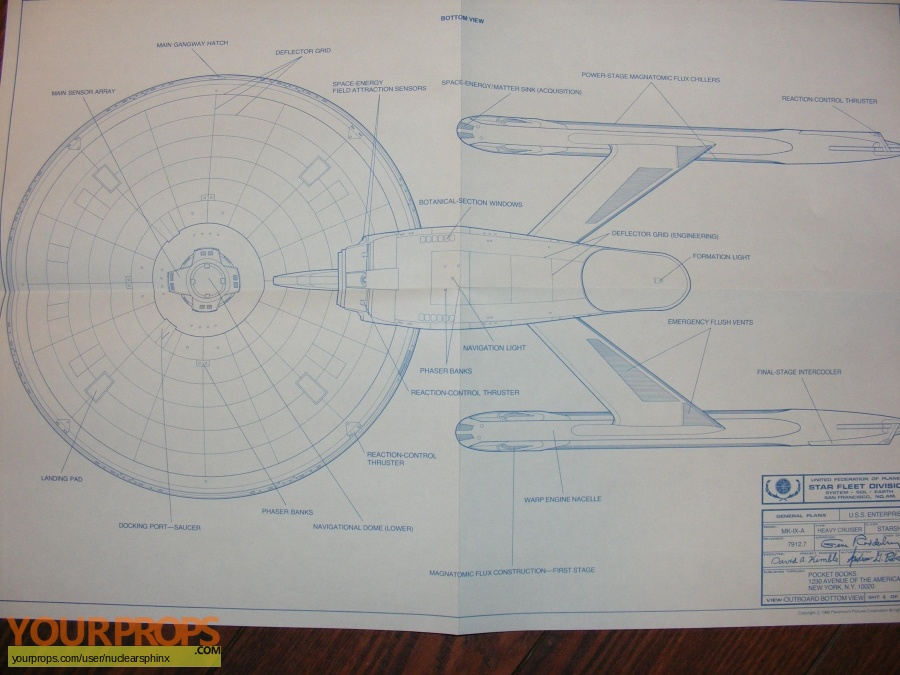 Star Trek - The Motion Picture replica production artwork