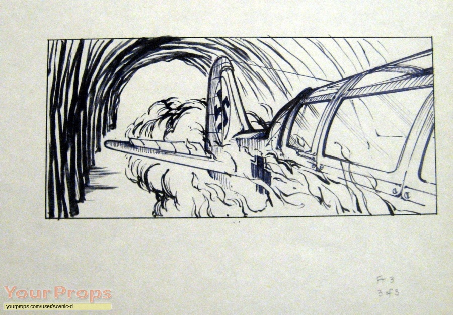 Indiana Jones And The Last Crusade original production artwork