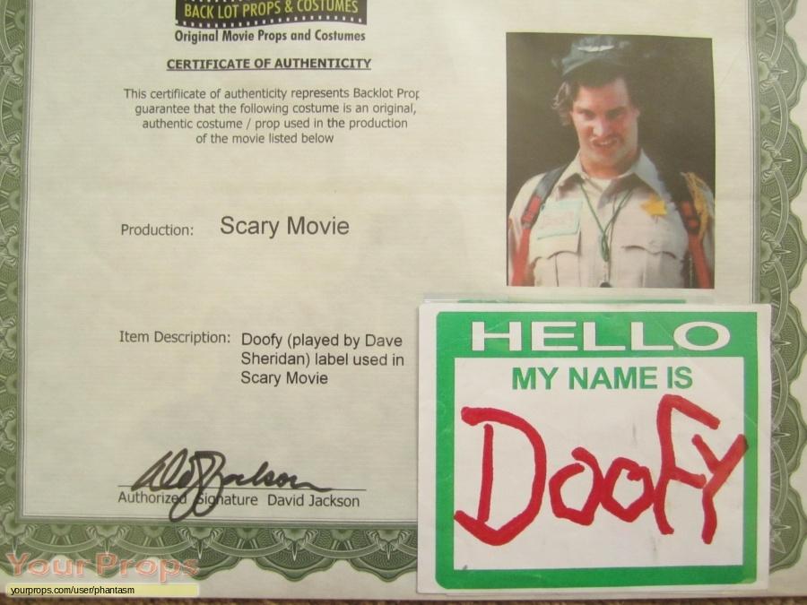 Scary Movie original movie prop