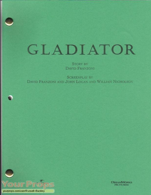 Gladiator original production material