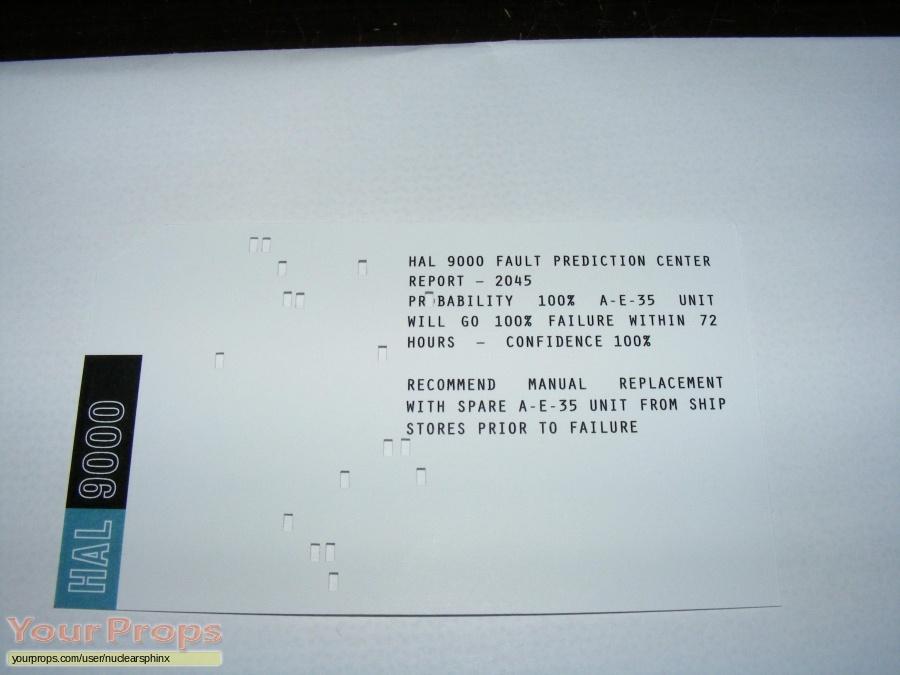 2001  A Space Odyssey replica movie prop