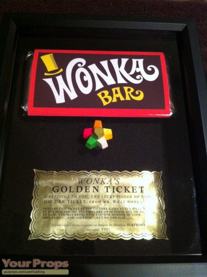 Willy Wonka Chocolate Factory Golden Ticket