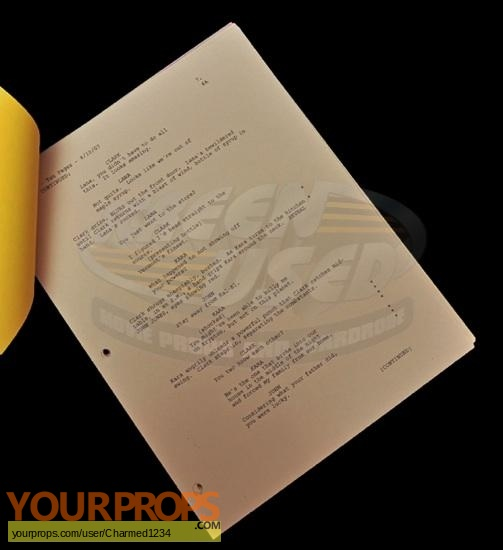 Smallville original production material