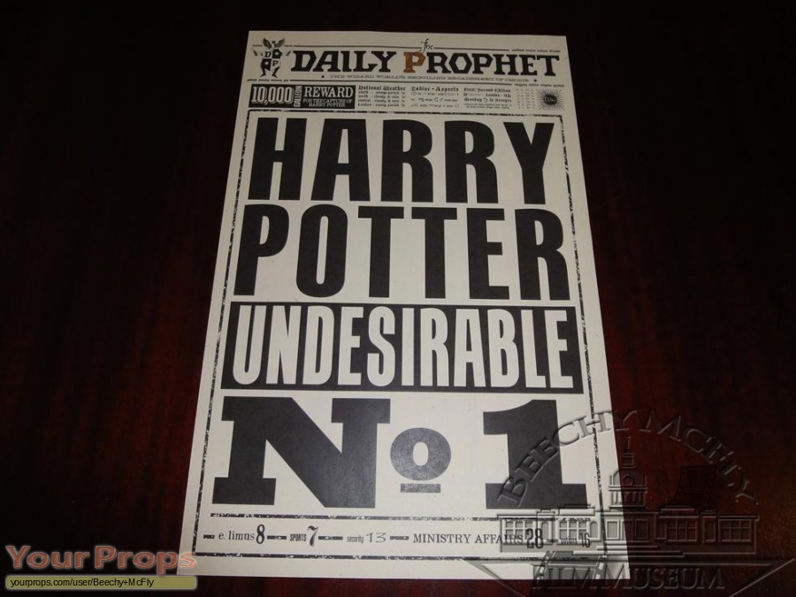Harry Potter and the Deathly Hallows  Part 1 replica movie prop