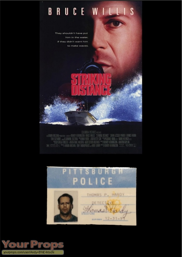 Striking Distance original movie prop