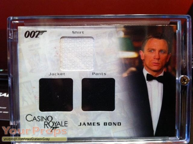 James Bond  Casino Royale swatch   fragment movie costume