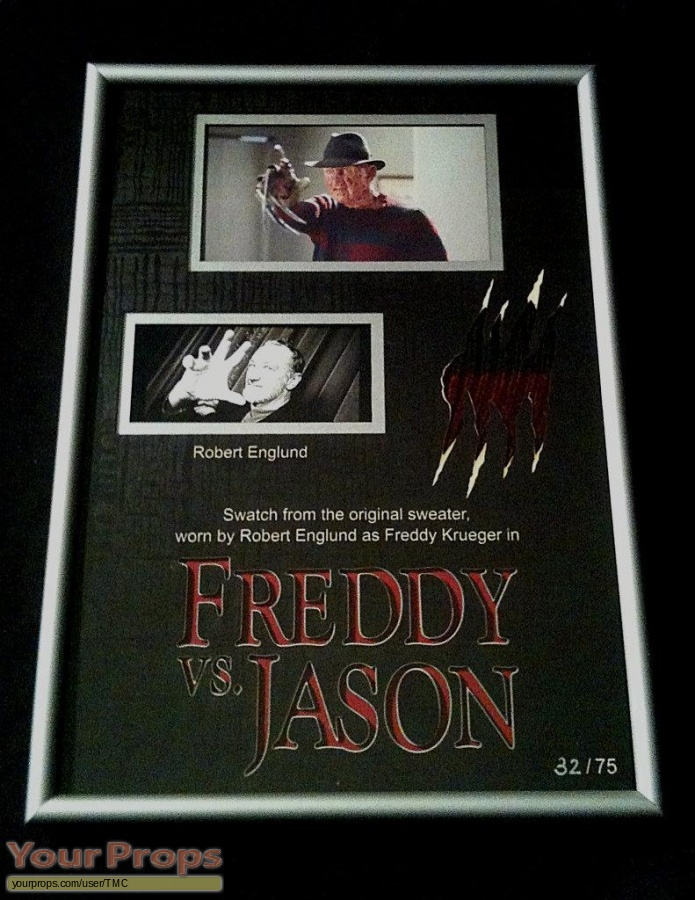 Freddy vs  Jason swatch   fragment movie costume