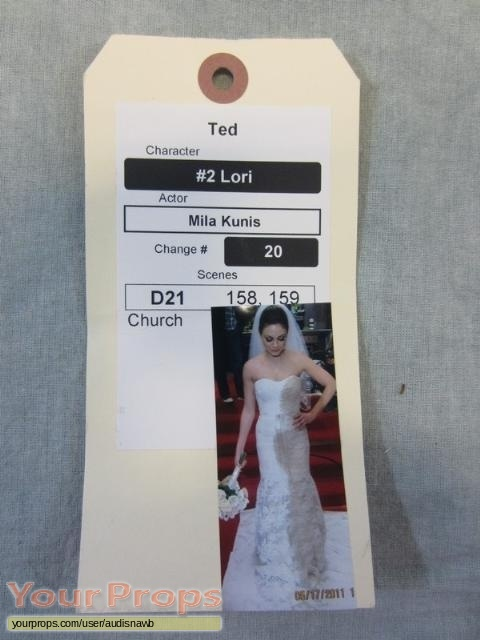 Ted original movie prop