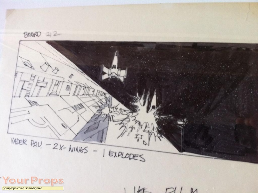 Star Wars  A New Hope original production artwork