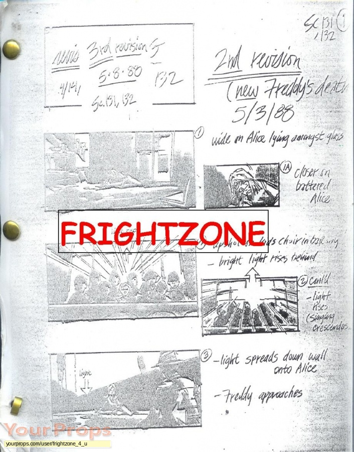 A Nightmare On Elm Street 3  The Dream Warriors original production material