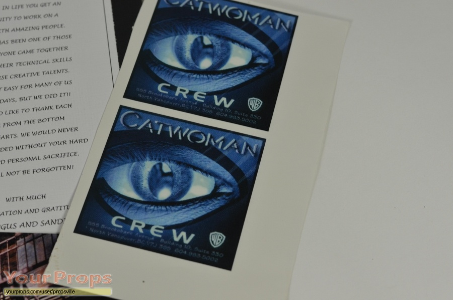 Catwoman original production material