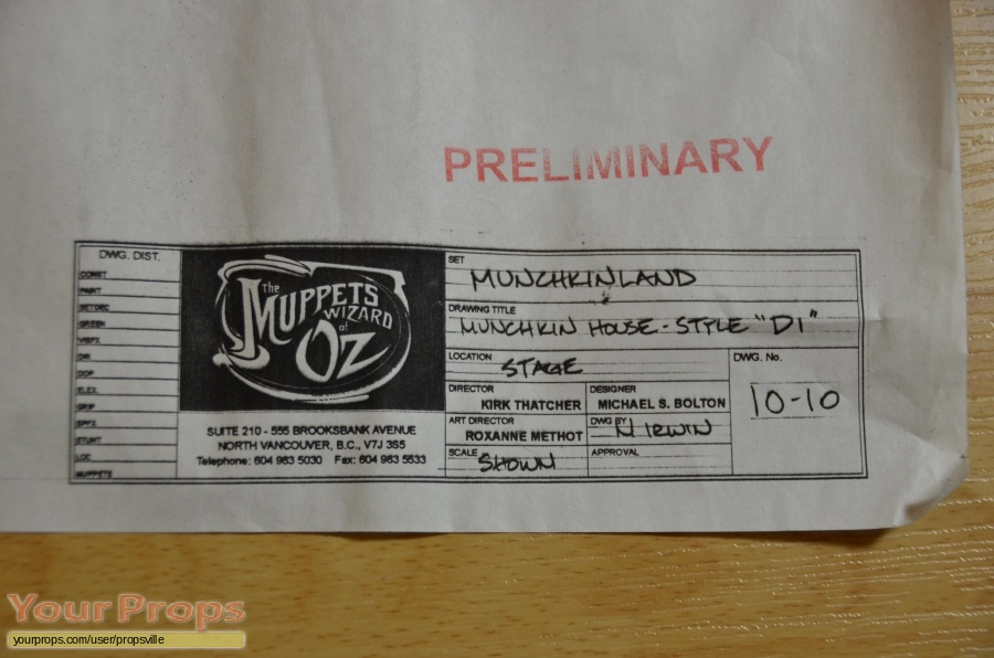 Muppets Wizard of OZ original production material