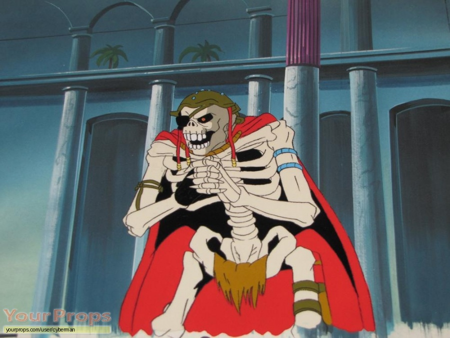 Skeleton Warriors  The Animated Series original production artwork