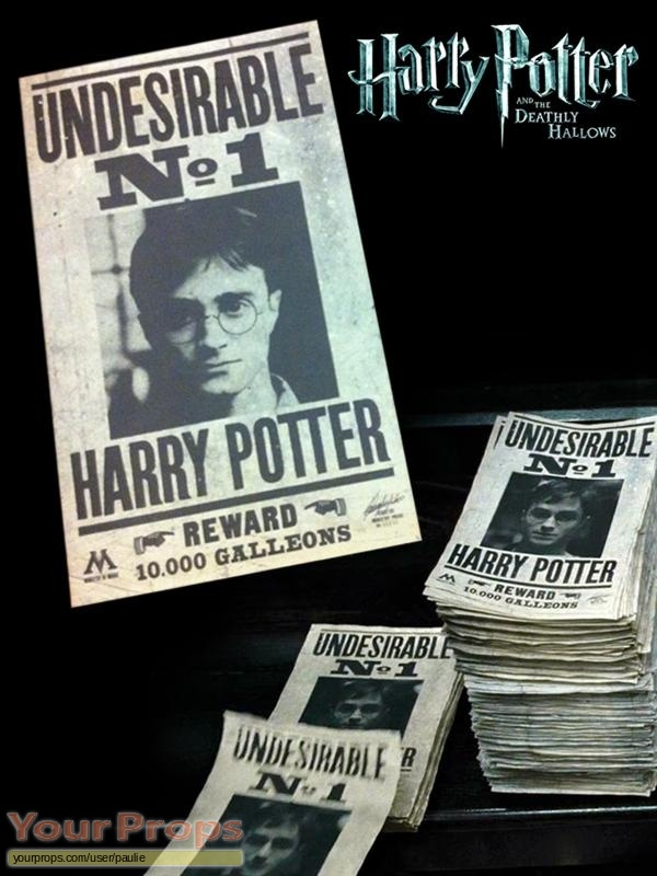Harry Potter and the Deathly Hallows  Part 1 original movie prop