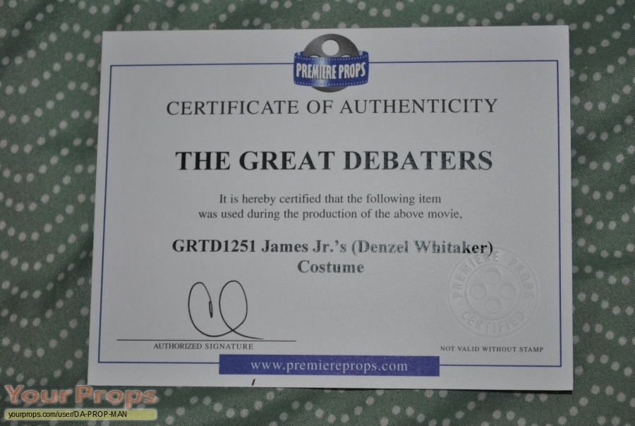 The Great Debaters original movie costume
