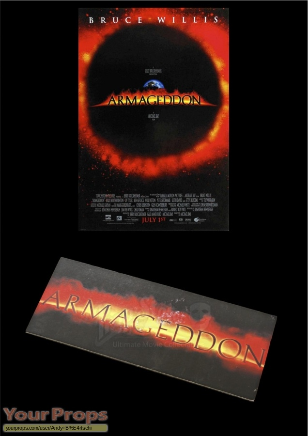 Armageddon original production material
