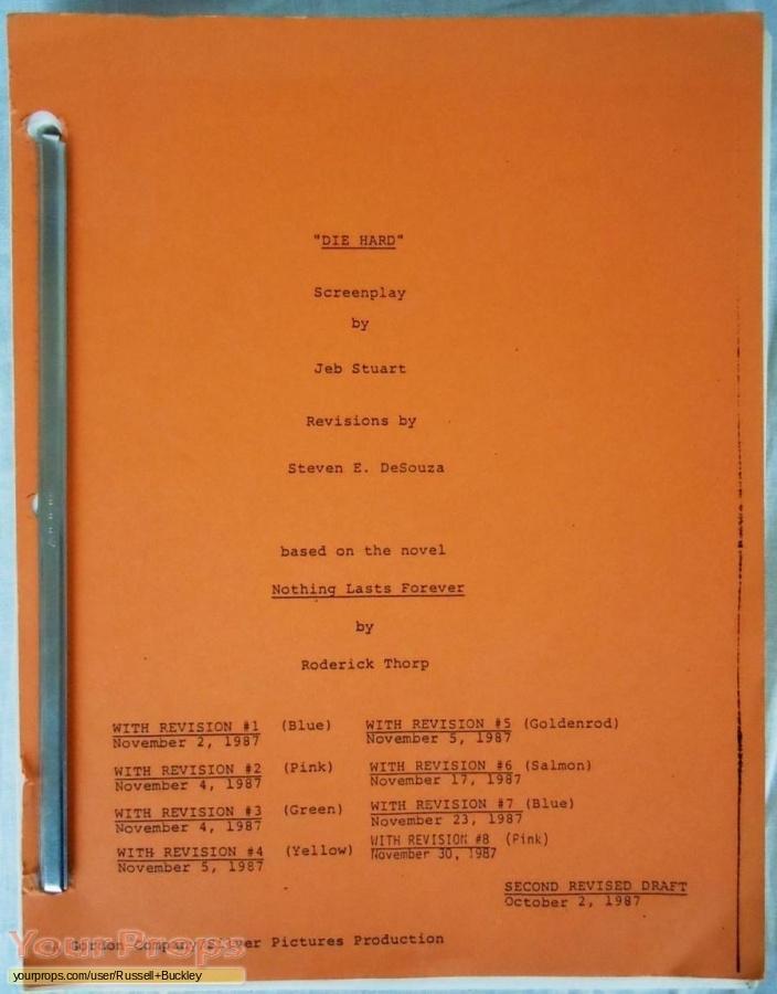 Die Hard original production material