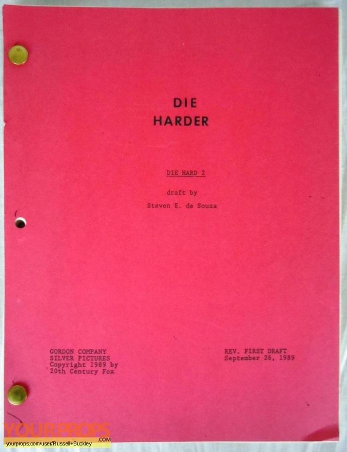 Die Hard 2 original production material