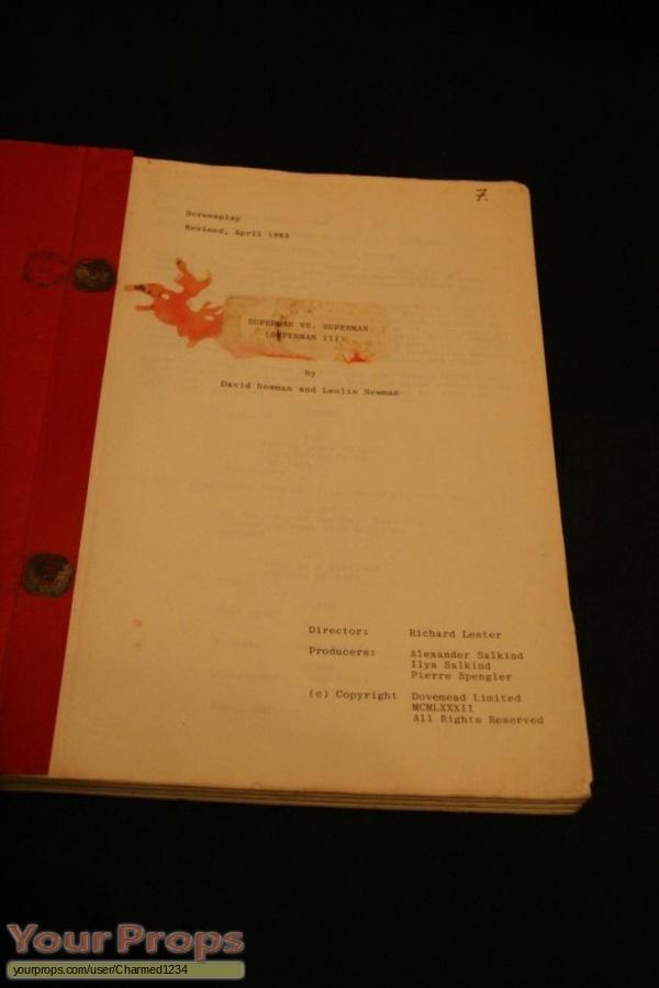 Superman III original production material