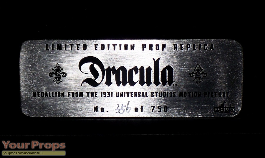 Dracula replica movie prop