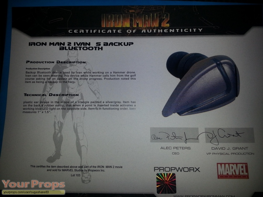 Iron Man 2 original movie prop