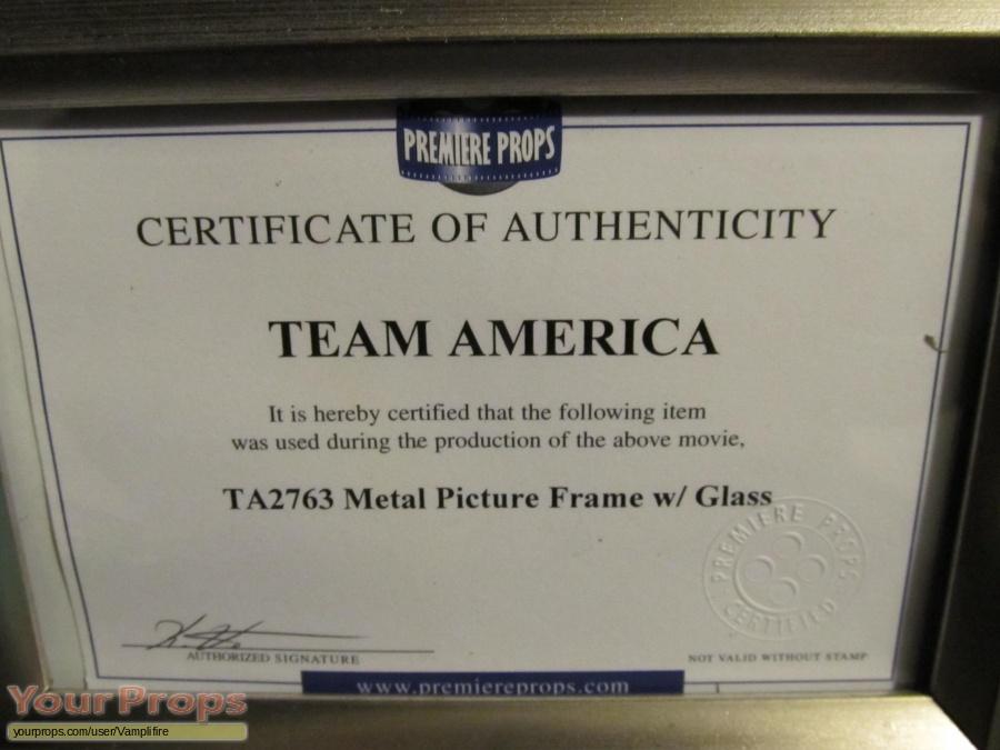 Team America  World Police original movie prop