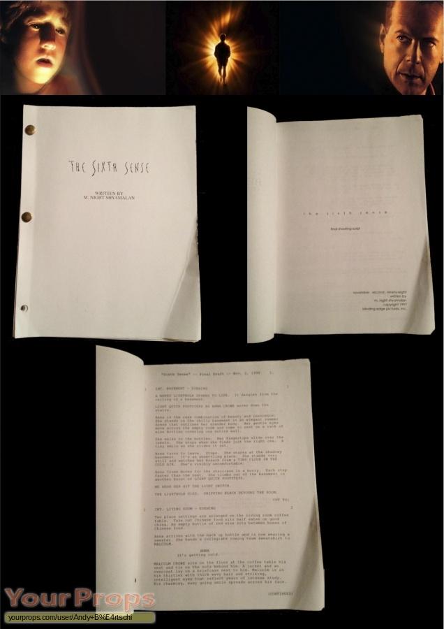 The Sixth Sense original production material