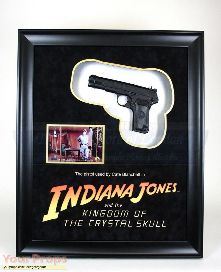 Indiana Jones And The Kingdom Of The Crystal Skull original movie prop weapon