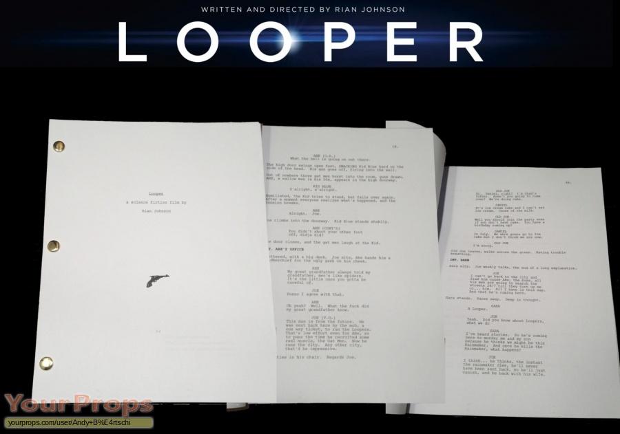 Looper original production material
