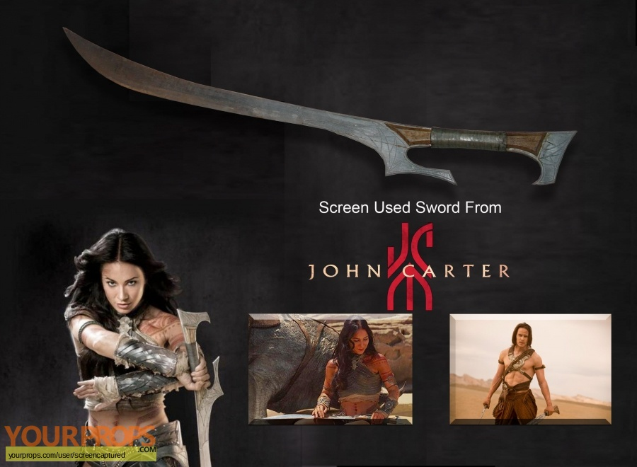 John Carter original movie prop weapon