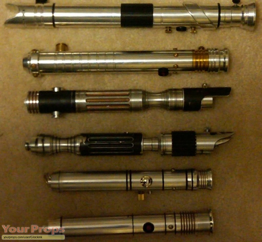 Star Wars custom lightsabers made from scratch movie prop weapon