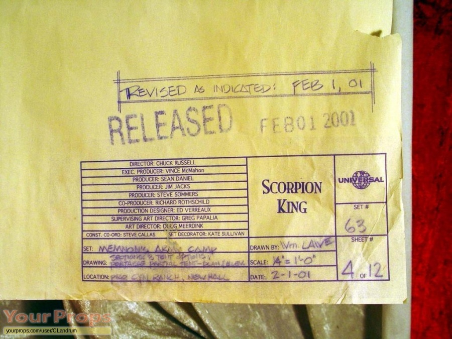 The Scorpion King original production material