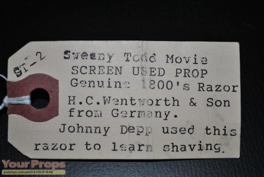 Sweeney Todd  The Demon Barber of Fleet Street original movie prop