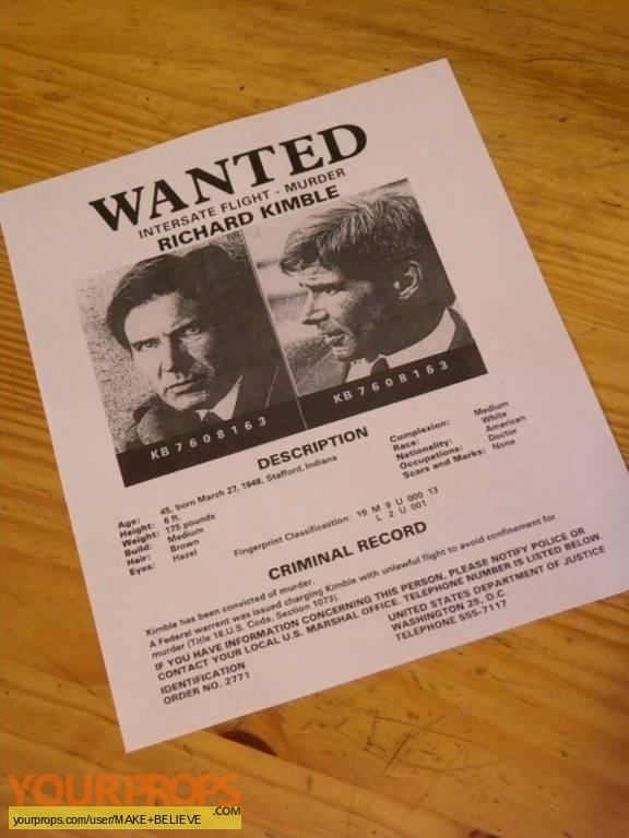 The Fugitive replica movie prop