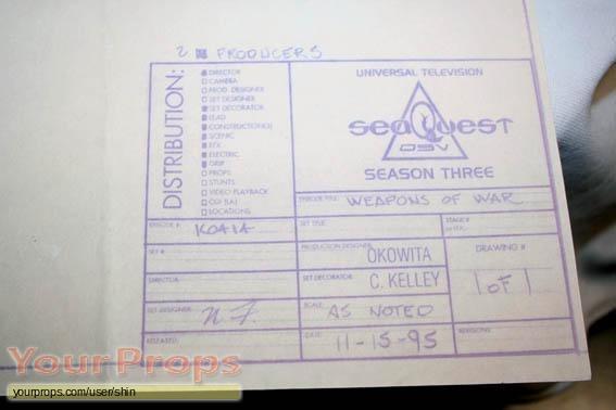 SeaQuest DSV original set dressing   pieces
