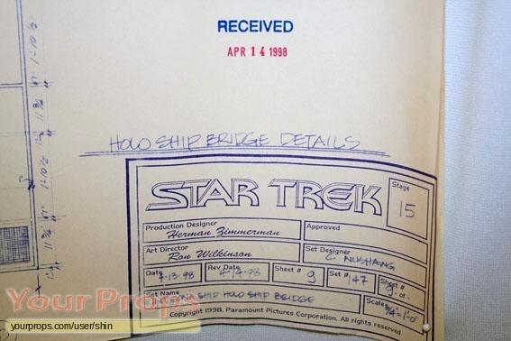 Star Trek  Insurrection original production artwork
