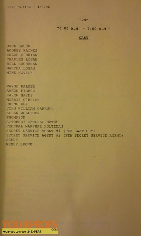 24 original production material