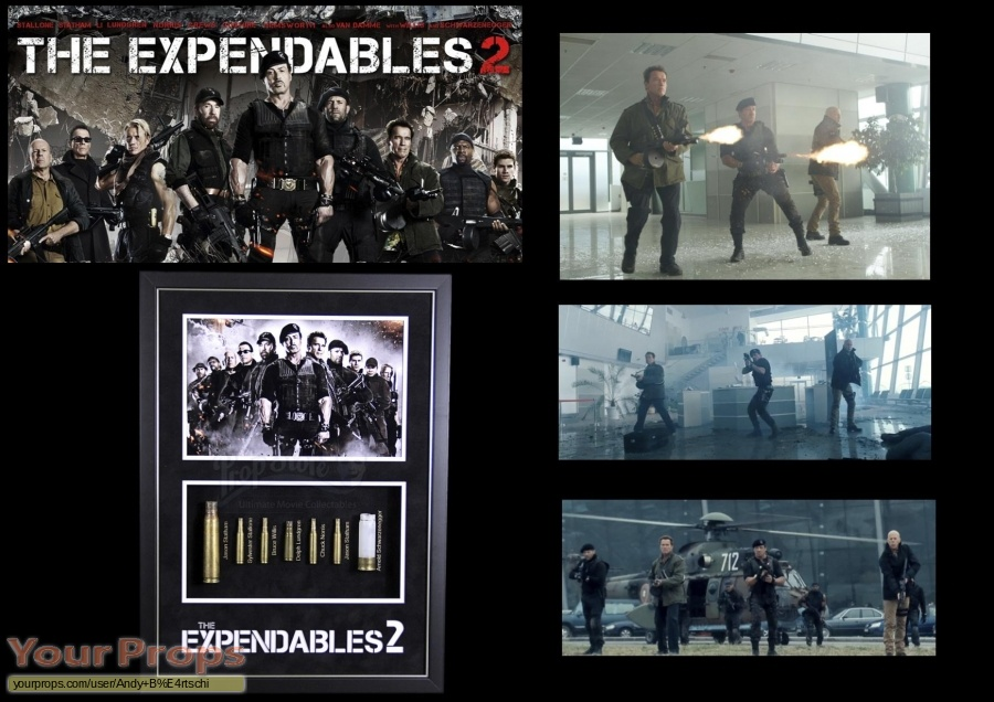 The Expendables 2 original movie prop weapon