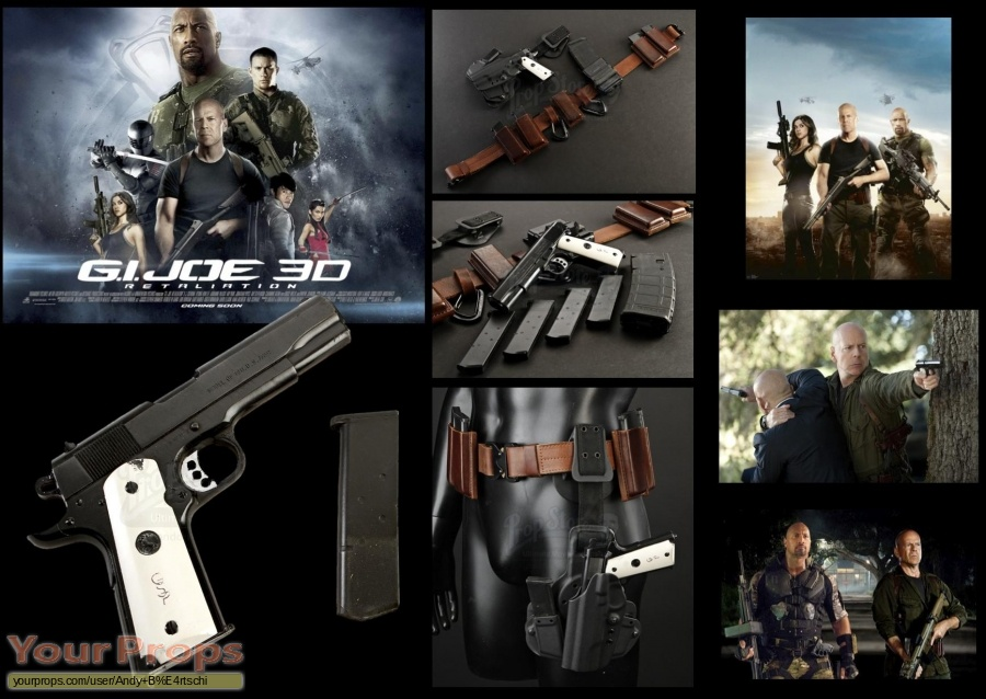 G I  Joe  Retaliation original movie prop weapon