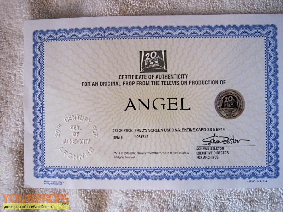 Angel original movie prop
